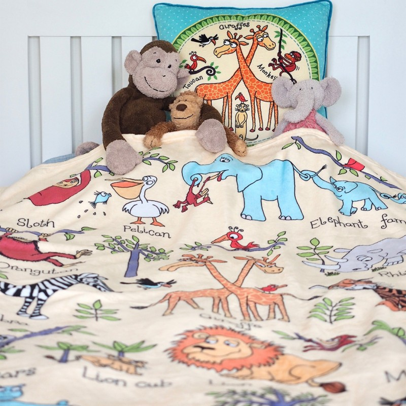 Tyrrell Katz Jungle Snuggle Blanket Lifestyle