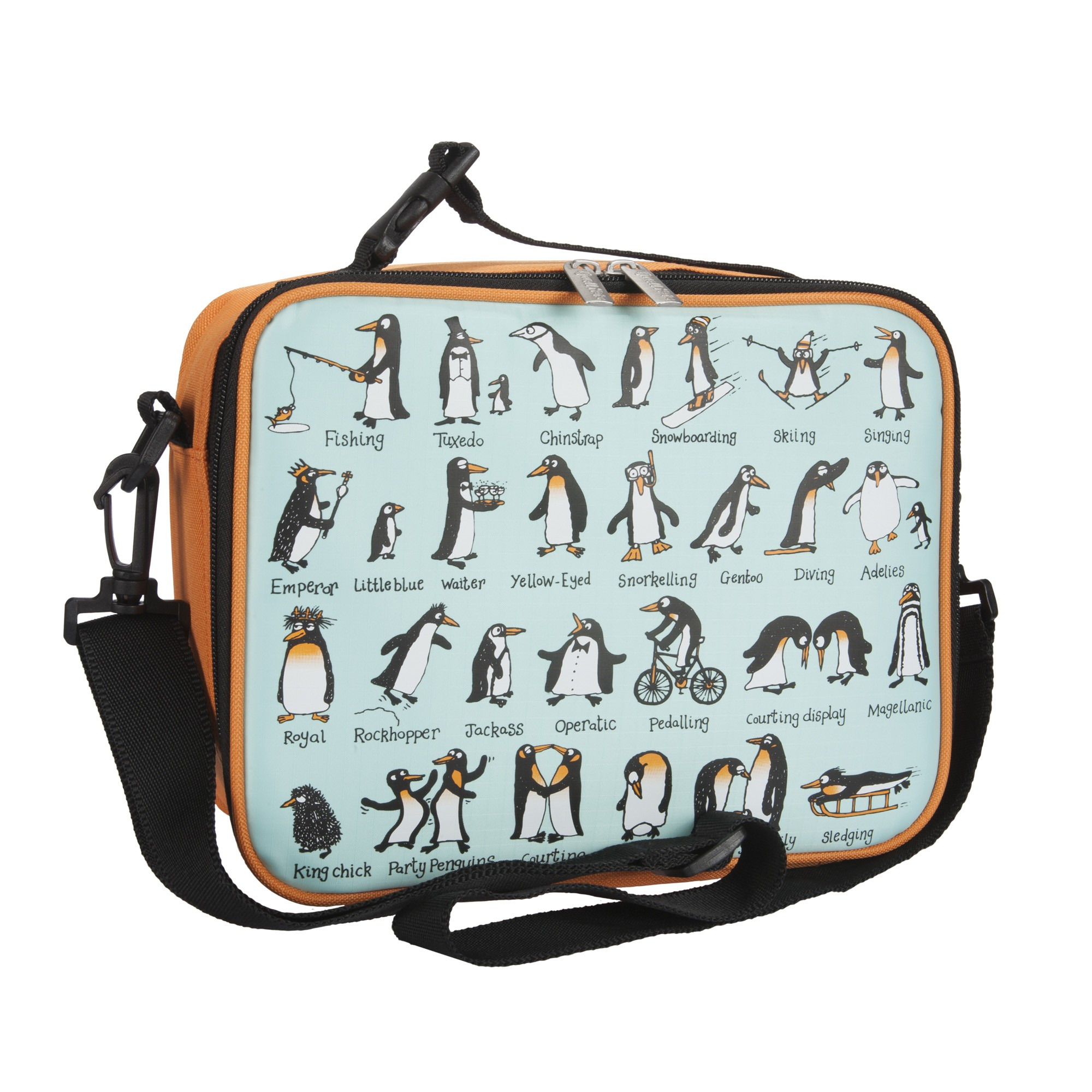 Penguins Insulated Lunch Bag