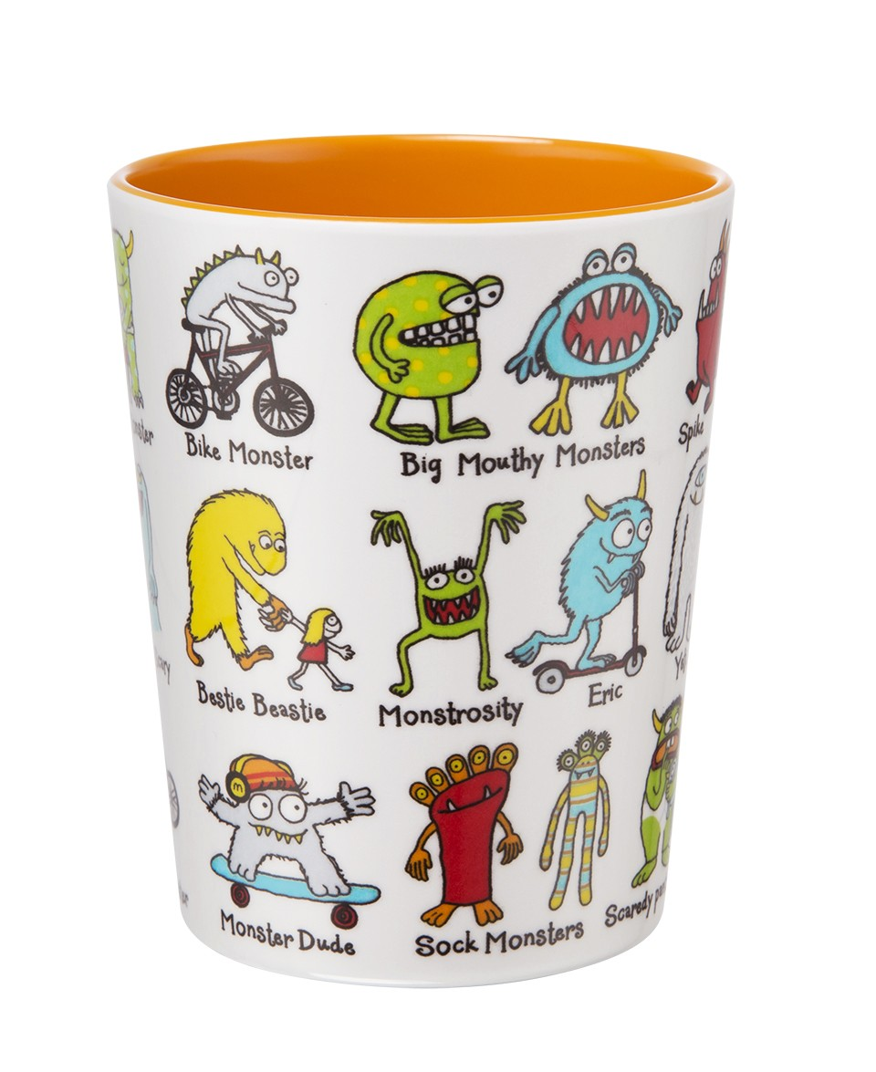 Monsters Design Melamine Beaker