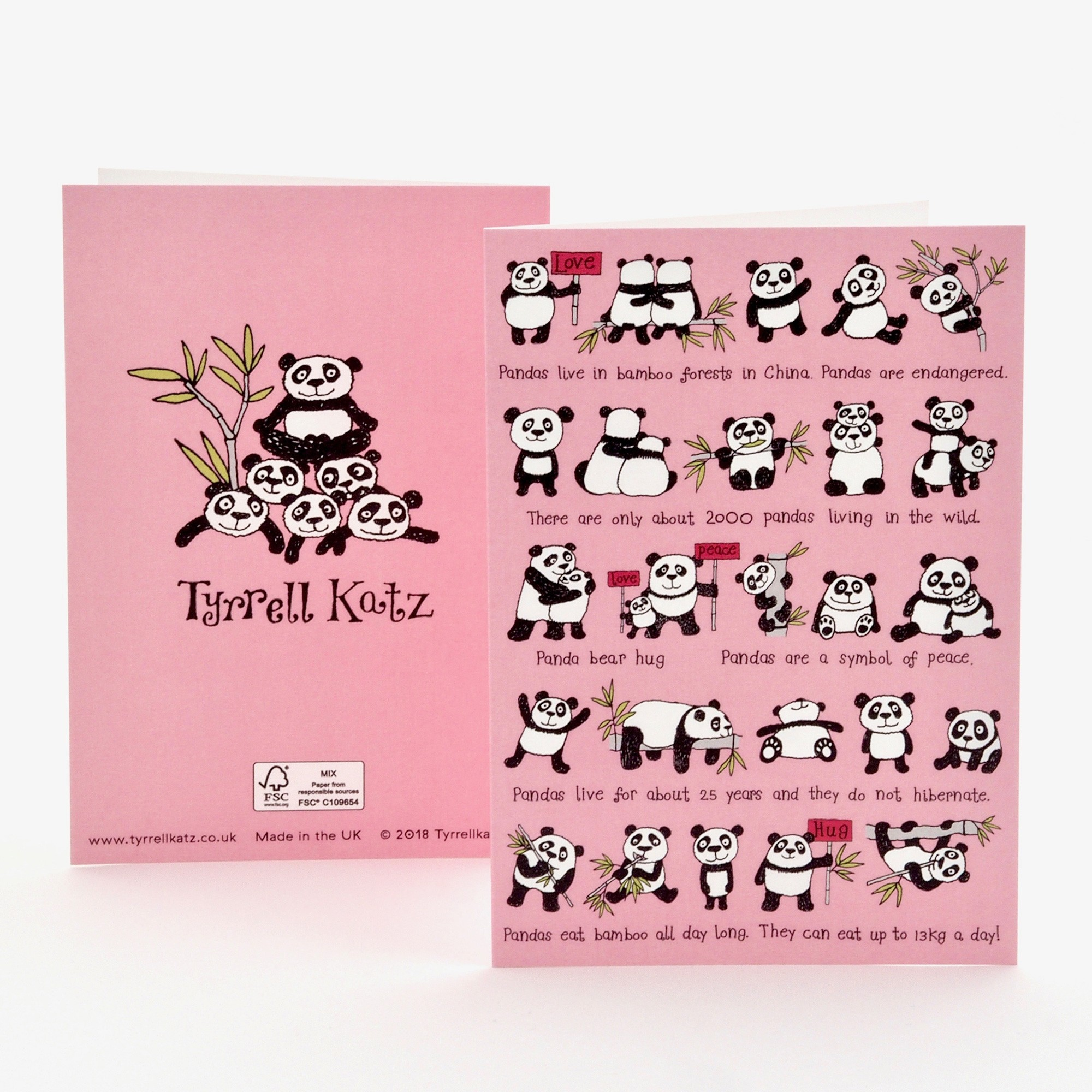 Pandas Greetings Card