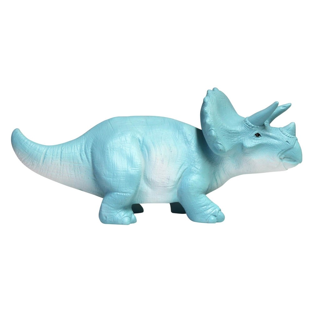House of Disaster Turquoise Triceratops Mini LED Night Light