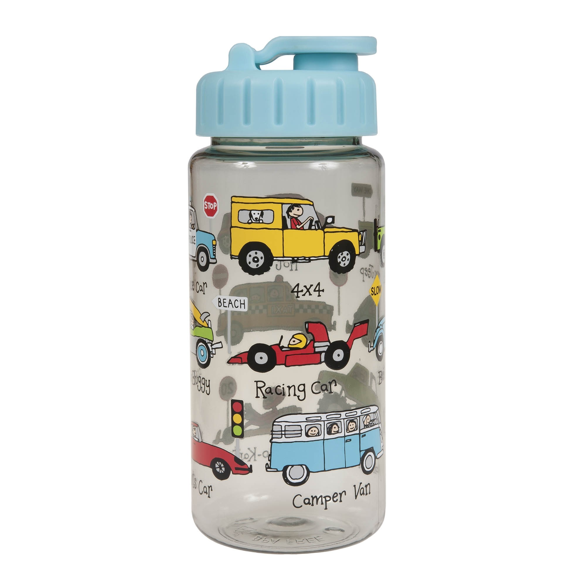 Cars Drinking Bottle With Straw