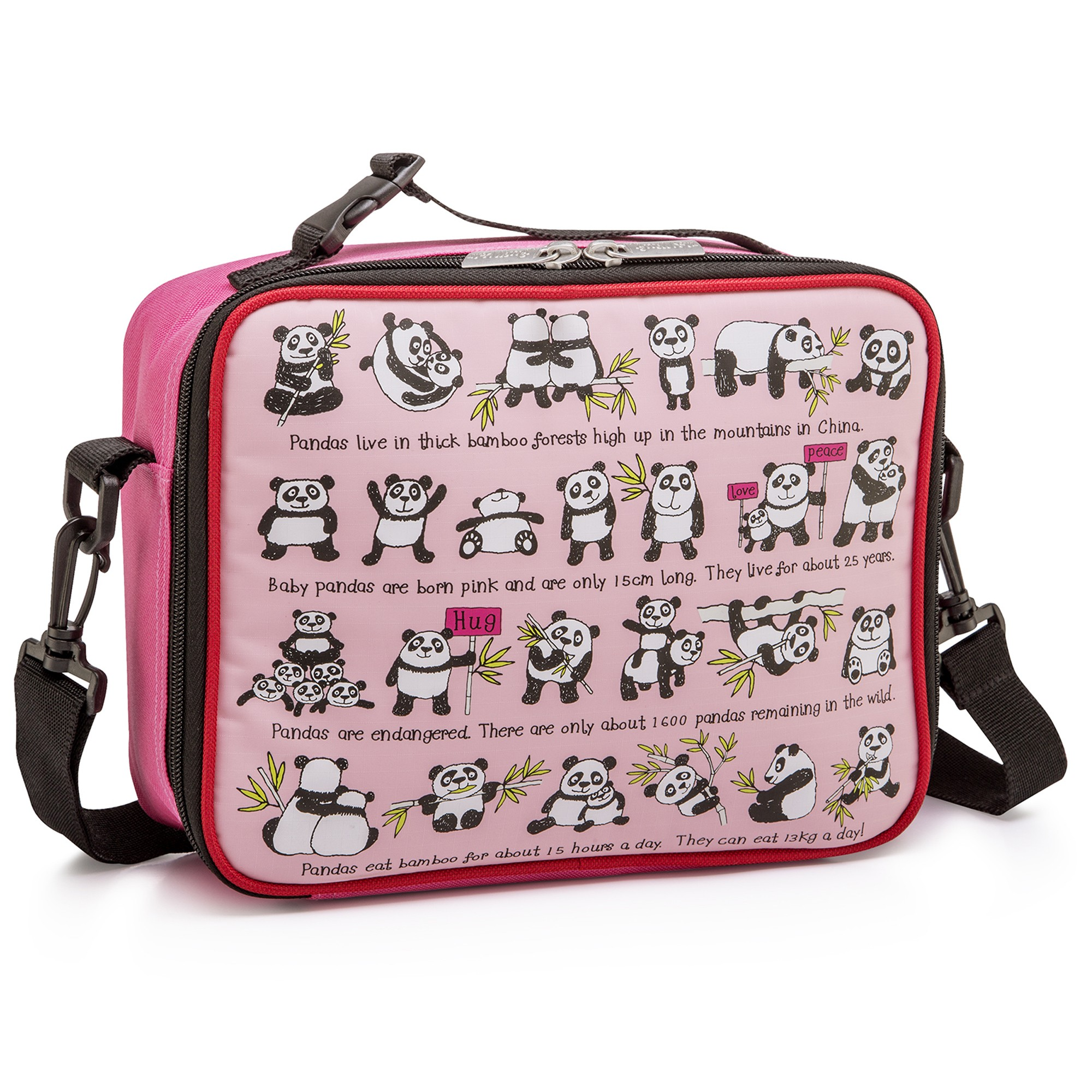 Pandas Design Kids Insulated Lunch Bag With Strap