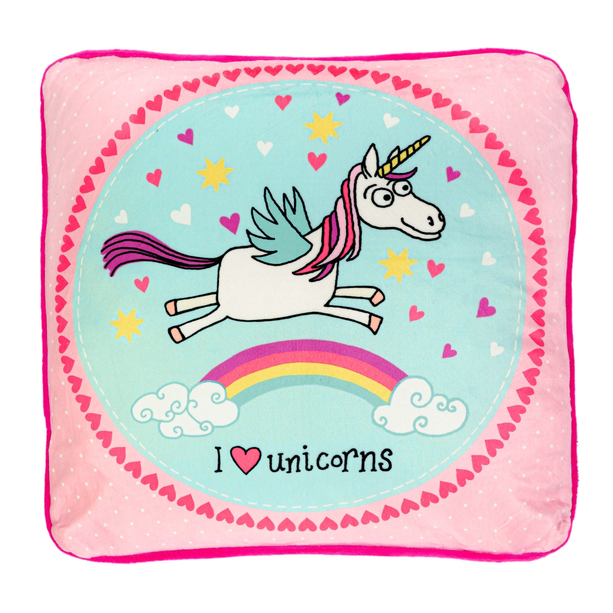 Unicorns Plush Cushion