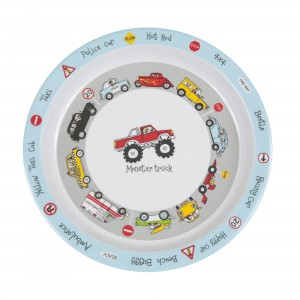 Cars Design Melamine Children's Plate