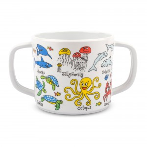 Ocean Design Melamine Toddler Training Cup