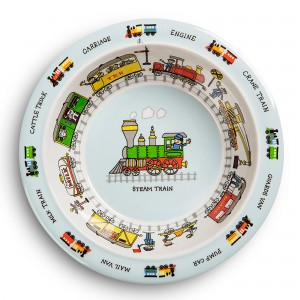 Trains Design Melamine Bowl
