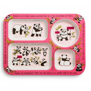 Pandas Design Melamine Compartment Tray