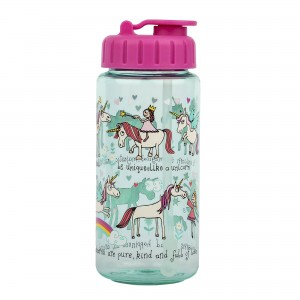 Unicorns  Drinking Bottle With Straw
