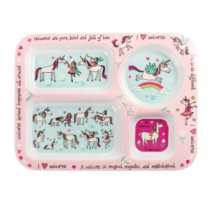Unicorns Design Melamine Compartment Tray
