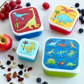 Set of 4 Dinosaurs Snack Boxes for Kids
