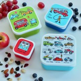 Set of 4 Cars Snack Boxes for Kids