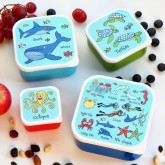 Set of 4 Ocean Snack Boxes for Kids