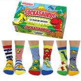 Oddsocks Sockasaurus Set of 6 Size 9-12 UK