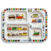 Trains Design Melamine Compartment Tray