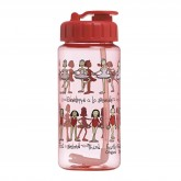 Ballet Drinking Bottle with straw