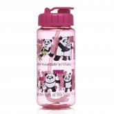Pandas Design Drinking Bottle with straw