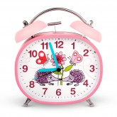 Secret Garden Design Children's Alarm Clock · Twin Bell · Silent Tick