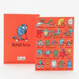 Monsters Greetings Card