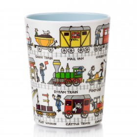 Trains Design Melamine Beaker