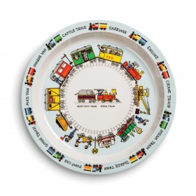 Trains Design Melamine Plate