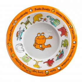Monsters Design Melamine Bowl