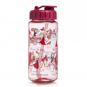 Princess Drinking Bottle With Straw