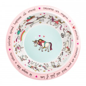 Unicorn Design Melamine Bowl