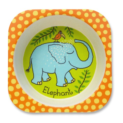Jungle Design Bamboo Toddler Bowl