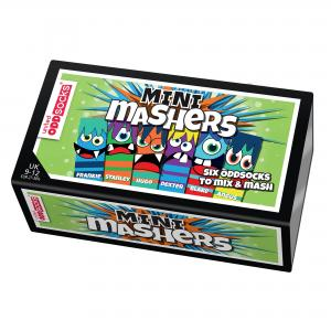 Oddsocks Mini Mashers Set of 6 Size 9-12 UK