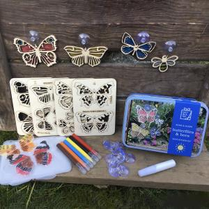 Butterflies and Bees Suncatcher Kit in a Tin