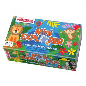 Oddsocks Mini Explorer Set of 6 Size 9-12 UK