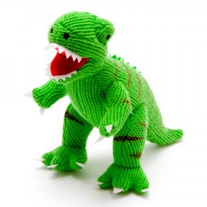 Best Years Knitted Green T Rex Soft Toy