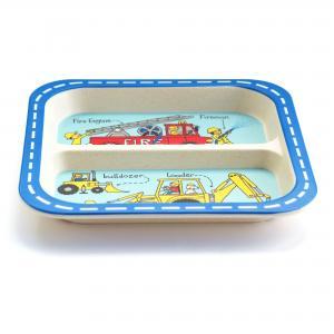 Trucks Bamboo Children's Divider Plate
