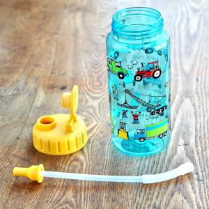 Trucks Drinking Bottle with straw