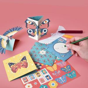 Create Bird and Butterfly Pop Up Cards