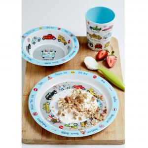 Cars Print Melamine Children's Dinner Set