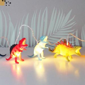 House of Disaster Bright Dinosaurs String Lights