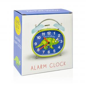 Dinosaur Design Children's Alarm Clock · Twin Bell · Silent Tick
