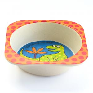Dinosaur Bamboo Bowl
