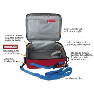 Trains Design Kids Insulated Lunch Bag With Strap