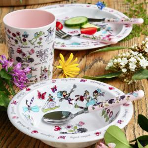Secret Garden Print Melamine Children's Dinner Set