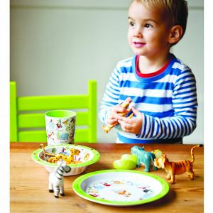 Jungle Print Melamine Children's Dinner Set