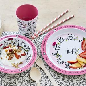 Pandas Print Melamine Children's Dinner Set