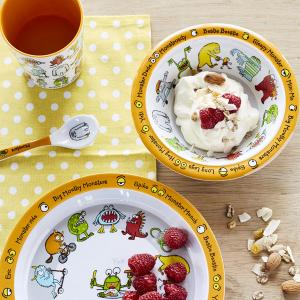 Monsters Print Melamine Children's Dinner Set