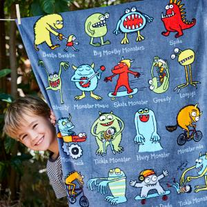 Monsters Design Towel
