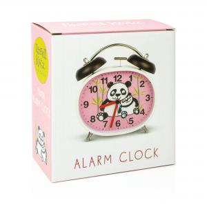Pandas Design Children's Alarm Clock · Twin Bell · Silent Tick