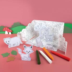 Colour In Pop Up Woodland Play Scene