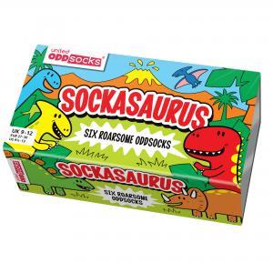 Oddsocks Sockasaurus Set of 6 Size 9-12 UK