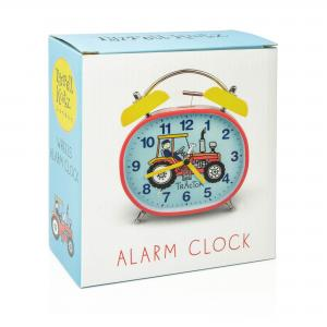 Tractor Design Children's Alarm Clock · Twin Bell · Silent Tick
